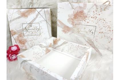 {READY STOCK} 1 Set Gift Box [Box + Paper Bag] Festival Wedding Valentine Days Door/Party Gift Box 伴手礼盒结婚喜糖盒包装盒手提袋套装
