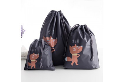 1 Set Travel Organizer Set Waterproof Travel Bags Drawstring Bag Storage Bag Waterproof Bag精美防水抽绳收纳袋